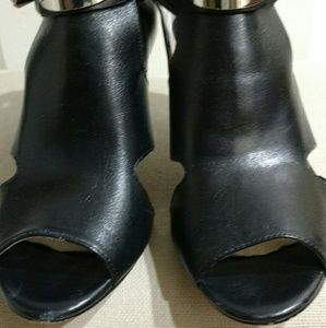 Michael Kors peep toe booties